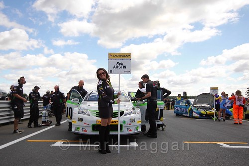 Rob Austin's car during the Grid Walks at the BTCC 2016 Weekend at Snetterton