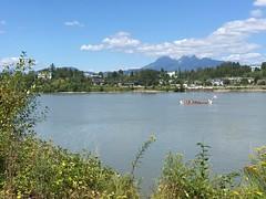 Canoe on the Fraser River. (antonio.vendramin) Tags: derbyreach langley mapleridge goldenears fraserriver river canoe
