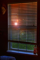 Summer Morning (Kansas Poetry (Patrick)) Tags: sunrise home window lawrencekansas kansas africanmasks patrickemerson patricklovesnancy