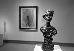 Giacometti's Wife (shudaizi) Tags: developer usa hp5 lens northamerica newyork 35mm film interior metropolitanmusemofart bw nyc places museums architecture 2012 leicasummicron35mmf20asph blackandwhite m6 thorntontwobath newyorkcity themet