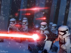 Battle on Starkiller Base (willgalb) Tags: battle diorama moc minifig starkillerbase theforceawakens stormtrooper firstorder starwars lego