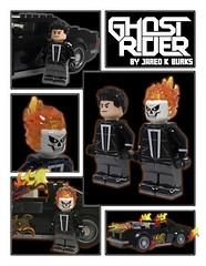 Robbie Reyes Ghost Rider - Agents of SHIELD (Fine Clonier) Tags: joshuajamesshaw loganriese felipesmith gabrielluna annfoley jaredkburks kaminoan fineclonier lego custom minifigure marvel