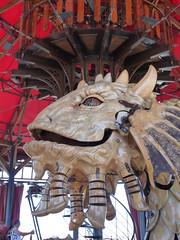 head of a curious sea creature - part of carousel ride (d0gwalker) Tags: nantes iledenantes machinesdelile paysdelaloire loireatlantique seacreature carousel carrousel merrygoround