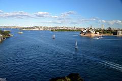 Sydney, from the Harbour Bridge (John Jake) Tags: sydney australia harbour operahouse opera house nikon d600 sky sea