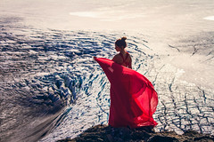 Magnetic Mountains (West Leigh) Tags: alaska hardingicefield red dress woman travel ice glacier exitglacier explore experience dream discover inspire climate flow breathe nature nationalparks kenai seward north cold wandress wanderlust wander