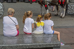 wings (stevefge) Tags: krakow poland oldtown squares reflectyourworld people candid girls kids kinderen children mother family sitting street summer zomer