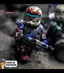 RC-1207 | Sev  [UPDATED] (Grant Me Your Bacon!) Tags: boss trooper star republic lego sev wars clone spec ops commando scorch fixer