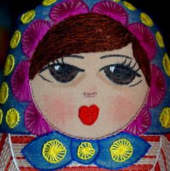 Lupe y Lupita (Mara Tenorio) Tags: guadalupe lupe babushka softdoll matrioska matryoshka mueca crayolas softsculpture baboushka handmadedoll mamushka handembroidery mixedmediadoll muecarusa crayontinting muecadetela muecapintadaybordada muecabordada