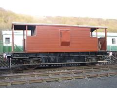 Replanked, repainted west side of brake van 6Apr15