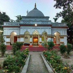 Small yet serene in the evening light is Rajmata Mandir