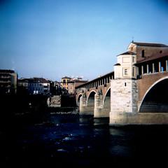 #08 (Paolo Dallavalle) Tags: bridge river ticino lomography fiume ponte diana pavia