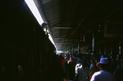 (willgoodan) Tags: leica travel portrait people sunlight man black film 35mm 50mm paint open iso400 wide culture slide backpacking solo flare mp dhaka traveling provia summilux bangladesh e46 chittagong blackpaint 14