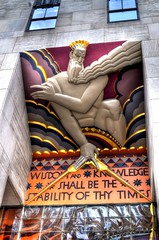 Wisdom and Knowledge (Tryppyhead) Tags: newyorkcity usa architecture artdeco hdr 2015 nikond5000 photomatixpro4