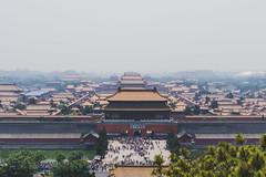 Forbidden CIty (Rich Court) Tags: china park fog smog beijing forbiddencity jinshan