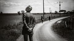 Loin des yeux (Christine Lebrasseur) Tags: portrait people blackandwhite man france art canon landscape body 169 fr alisson sbastien vende lane champagnlesmarais allrightsreservedchristinelebrasseur