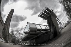 DSC_4474 (reflective perspicacity) Tags: uk england urban bw london thames towerbridge londonbridge europe modernart europeanvacation escalator stpauls eu parliament bigben millenniumbridge tatemodern fisheye britishmuseum nikond300