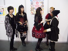 Hyper Japan 2016 14 (Terterian - A million+ views, thanks.) Tags: kensington london capital city uk olympia victorian exhibition centre venue hyper japan 2016 july japanese nippon nipponese culture pastel childlike innocent costume tradition festival art music martial pretty beautiful sexy lolita lollita girls female woman attractive happy smile alternative fashion fashionable models dark black studs lace boots