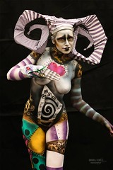 Tim Burton Body Painting Contest, Prague 2016 (KaraKuckoo) Tags: prague creative bodypaint creation bodypainting bodyart timburton burton nightmarebeforechristmas steampunk sandworm sandworms creativemakeup