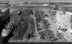 Hyman-Michaels Scrap Yard at Duluth, Minnesota 1973 (Twin Ports Rail History) Tags: twin ports rail history by jeff lemke time machine duluth minnesota rices point scrap metal industry dock hymanmichaels azcon