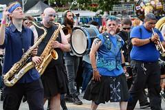 Fremont Solstice 2016  2548 (khaufle) Tags: solstice fremont wa usa saxaphone drum marchingband parade