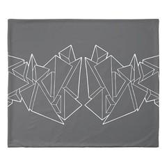 """Tri-Burst"" - Black & White King Size Duvet Cover (CMY-KEY) Tags: home graphicdesign bedroom homedecor bedding patterndesign chicagopattern cameronprather chicagodecor"