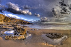 Caught a long wind (pauldunn52) Tags: sunset heritage beach wales clouds point coast glamorgan witches southerndown