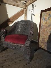 The Tudor Seat (failing_angel) Tags: 130915 kent margate tudorhouse chair wood sixteenthcentury transitionalhouse medievalopenhall earlymodernhouse