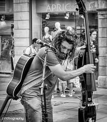 The music (Alex Chilli) Tags: street blackandwhite musician music mono bath play guitar somerset instrument busker
