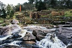 Adelong Falls Gold Mill Ruins (JamesGriffin,) Tags: road travel blue trees lake mountains mill water river waterfall nikon ruins rocks snowy dam rocky falls adventure caves cave blowering d3100 justgoshoot
