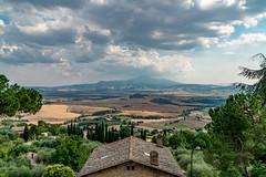 Italy 2016 - Pienza (chadjholland) Tags: italy clouds landscape wine wheat sony tuscany pienza sonya7rii