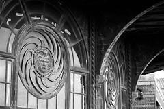 windows (mfauscette) Tags: 35mm bnw bw fsc ishootfilm istillshootfilm kodak kodakportra800 nikon nikonf6 analog architectural asburypark blackandwhite film filmisnotdead filmshooterscollective jerseyshore urbandecay