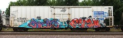 Nas/Sushi (quiet-silence) Tags: graffiti graff freight fr8 train railroad railcar art nas sushi nme tko armn reefer unionpacific chilledexpress armn912071