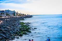The Sea (wandercrumbs) Tags: rock beach sea bay bengal pondicherry puducherry