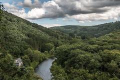 Balkhauser Kotten (Herr Olsen) Tags: solingen balkhausen kotten schleiferei bergischesland wupper river grindingshop vintage fachwerk museum sky clouds wolken tal valley