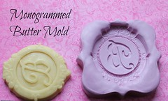 Monogram Butter Mold (Dinkalulu) Tags: butter mold monogram christmas thanksgiving etsy silicone chocolate fondant monogrammed