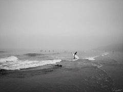 Niebla en Xivares (Jaime Martin Fotografia) Tags: asturias blancoynegro nature sea bw fog