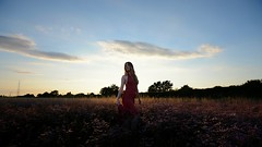 Eden (Be ppe) Tags: photography woman eden flower sunset barena nikon red 50mm veneto venice italy