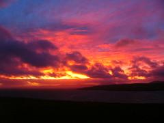 Sunset over scapa flow (stuartcroy) Tags: scotland orkney island scenery sky sea still scapaflow sunset beautiful blue bay orphir hoy