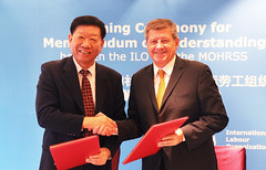ILO-China MOU renewal for strategic partnership (ILO in Asia and the Pacific) Tags: china southsouthcooperation tripartism labour employment