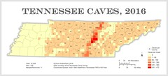 Tennessee Cave Distribution, 2016 (Chuck Sutherland) Tags: tennessee cave distribution map tn arcmap esri tennesseecavesurvey tcs cartography gis