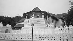 The Temple of the Tooth - Kandy (coolgeek1998) Tags: travel blackandwhite monochrome lanka sacred srilanka kandy budhdhism