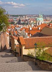 Praha a Zmeck schody (Honzinus) Tags: city czech prague prag praha cz hradany msto schody mikul esko prg stechy zmeck