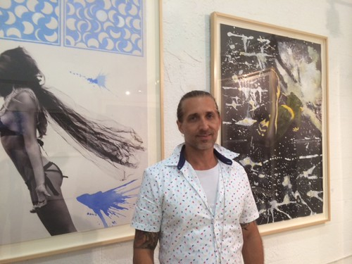 Artist Fred Love at the opening of his work at Wynwood Art Group