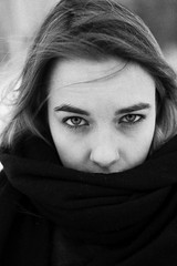 IMG_1540-Recovered (shelter.) Tags: portrait people blackandwhite girl monochrome face canon 50mm russia buty