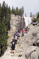 Mist Trail to Vernal Fall in Yosemite (GMLSKIS) Tags: california waterfall nationalpark yosemite vernalfall misttrail
