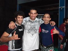 Mathias Ribeiro, Werdum y Cleyton Bastos Madrid 14-01-2010 Seminario Werdun