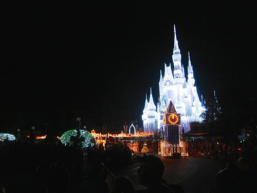 Cinderella's Castle Behind The Main Street Electrical Parade