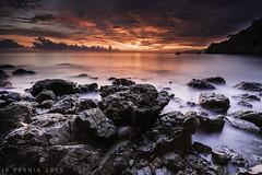 tuka3 (reYPern) Tags: park sunset red sky sun water landscape nikon marine rocks seascapes philippines filter lee d750 reverse tuka gnd benro singhray kiamba phottix nikon1635f4