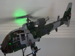 Gazelle Helicopter w.i.p (bricktrix) Tags: toys lego helicopter legohelicopter gazellehelicopter legomilitary arduinotrinket