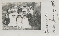 Enfield Methodist Church Choir picnic to Bridgewater, South Australia - January 1906
